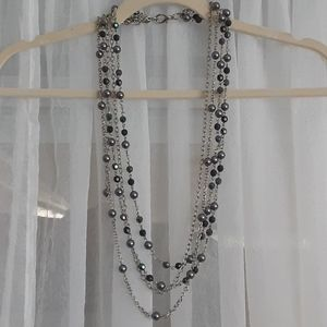 beaded necklace/chain belt